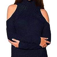 Damen Sweater,Geili Frauen Mode Solid Langarm Rollkragen Strick Top Sweater Damen Sexy Schulterfrei Pullover Trägerlos... preisvergleich bei billige-tabletten.eu
