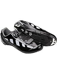 Zapatillas Profesionales ALTA GAMA NEGRO de Ciclismo para Bicicleta de Carretera Compatibles LOOK y TIME Talla 44 3713
