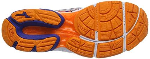 Mizuno Wave Catalyst 2, Chaussures de Running Compétition Homme Bleu (Mazarine Blue/silver/clownfish)