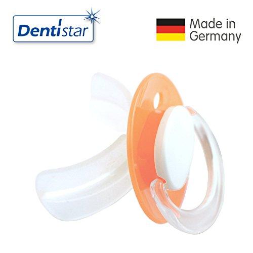 Dentistar® STOPPi® Entwöhnungssauger - Schnuller Orange zum Abgewöhnen ab 24 Monate - Entwöhnungs Nuckel Silikon für Babys