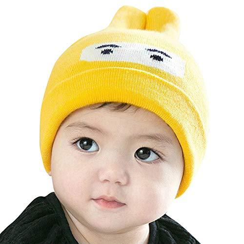 uBabamama_Hat Strickmütze mit Cartoon-Muster, für 0-12 Monate alte Babys, K, Einheitsgröße