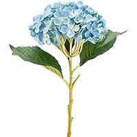 TININNA artificial de la mam‡ de flores de seda de la flor del Hydrangea para decoracion de cocina,fiestas, bodas(Azúl profundo)