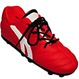 Unbekannt 2 Stück _ 3D Effekt - Spardosen - Fußballschuh / Sportschuh - Schuh - mit echten Schnürsenkel ! - rot - weiß - stabile Sparbüchse aus Porzellan / Keramik - Fu..