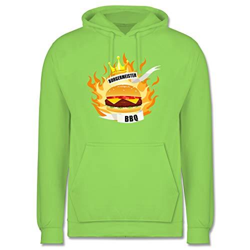 Shirtracer Grill - Burgermeister - XL - Limonengrün - JH001 - Herren Hoodie