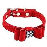 Sanwood Halsband, große Schleife, verstellbar, für Hunde und Katzen