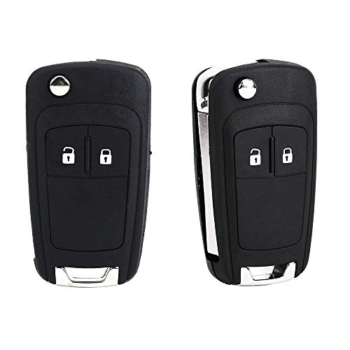 Price comparison product image HIVE 2x 2 Button Remote Flip Foldable Key FOB Shell Case Replacement & Uncut Blade