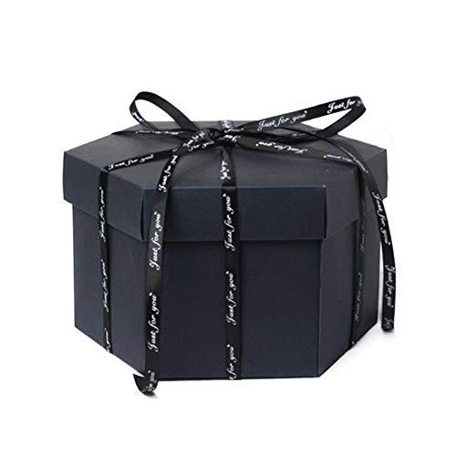 SinceY Geschenkschachtel für Fotoalbum, Neun-seitige Polygon Box - DIY handgefertigte Fotoalbum - Überraschung Geständnis romantische Geschenkbox