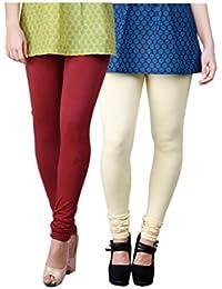 Limeberry Women's Cotton Legging Pack of 2 (LB-2PCK-LEGG-CMB-1_Multicolor)
