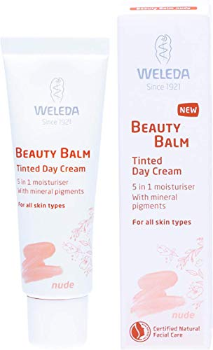 WELEDA Beauty Balm 5in1 Getönte Tagespflege Nude, Naturkosmetik Tagescreme und Gesichtspflegecreme für einen natürlichen Teint und schöne Haut, für einen hellen bis mittleren Hautton (1 x 30 ml)