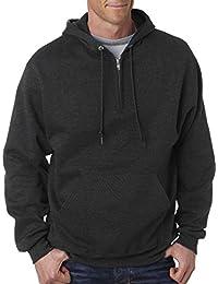 Jerzees Erwachsene NuBlend quarter-zip Kapuzen Sweatshirt