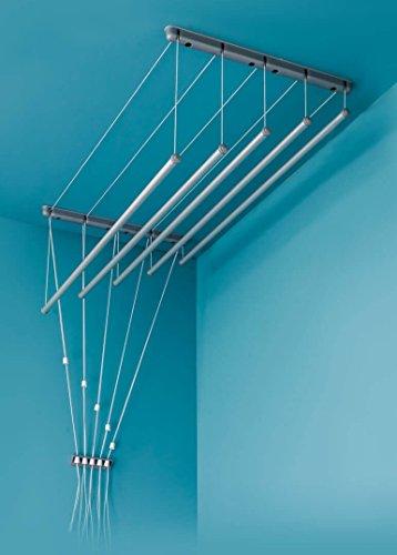 Aluminium! Deckentrockner 120 cm x 7 verstellbare Wäschestangen