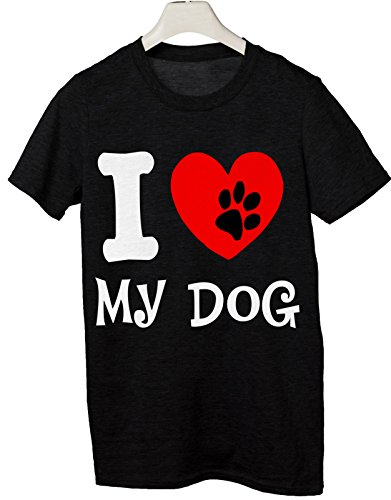 Tshirt I love my dog - Amo il mio Cane - Tutte le taglie by tshirteria Nero