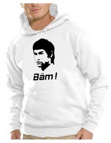 BÄM - BRUCE LEE ! Hoodie Sweatshirt weiss Gr.XXL