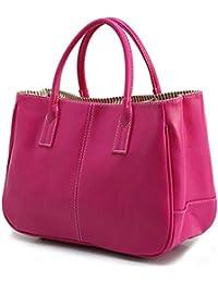 DELEY Mujer Simple Diseño Negocio Asa Superior Bolsa Oficina Hombro Bolso De Las Señoras Ciruelo Rojo