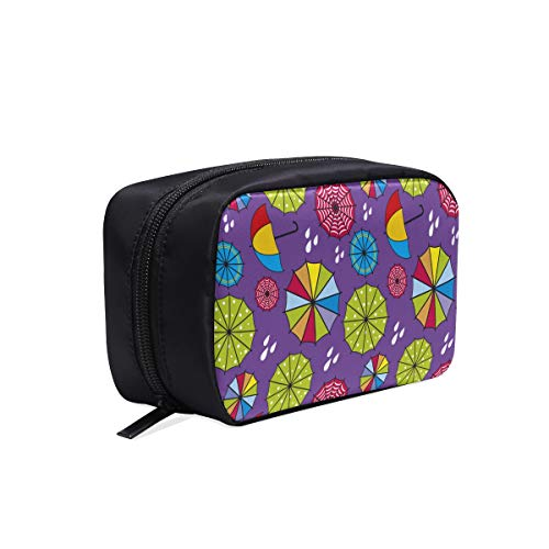 09857942296e Abstract Colorful Umbrellas Circles Portable Travel Makeup Cosmetic Bags  Organizer Multifunction Case Small Toiletry Bags For Women And Men Brushes  ...