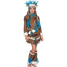 COSTUME di CARNEVALE da INDIANA D'AMERICA NEONATA vestito per neonata bambina 0-3 Anni travestimento veneziano halloween cosplay festa party 50681 Taglia 1