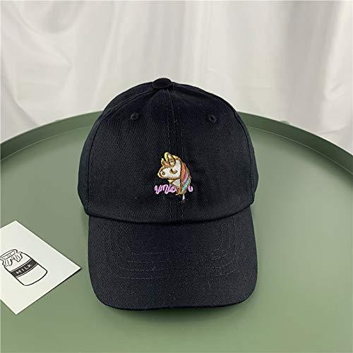 Kinder Hut Einhorn Cartoon Cap männlich und weiblich Baby Baseball Cap Visier Kind Hut schwarz 1-3 Jahre alt (Männliche Einhorn Kostüm)