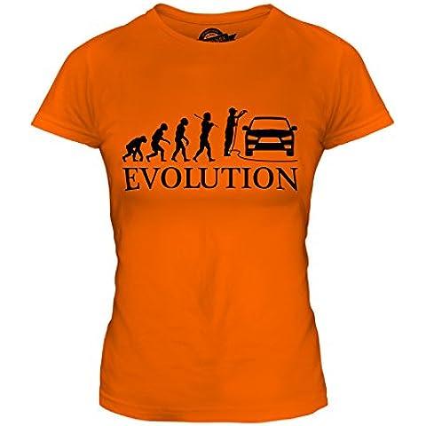 CandyMix Auto Valeter Evoluzione Umana T-Shirt da Donna Maglietta