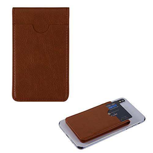 Mybat Lederetui mit Kartenhalter für Samsung HTC Motorola (inklusive Stylus), Braun Schutzhülle aus weichem Elastan, für die meisten Handys, Tablets, Gadgets mit Flacher Oberfläche -