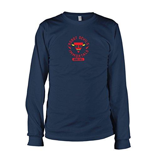 TEXLAB - Robot Hell - Langarm T-Shirt, Herren, Größe M, dunkelblau