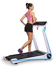 cooshional Cinta de Correr Eléctrica Plegable con Pantalla LED 10 Km/h Digital App Control Fitness Running