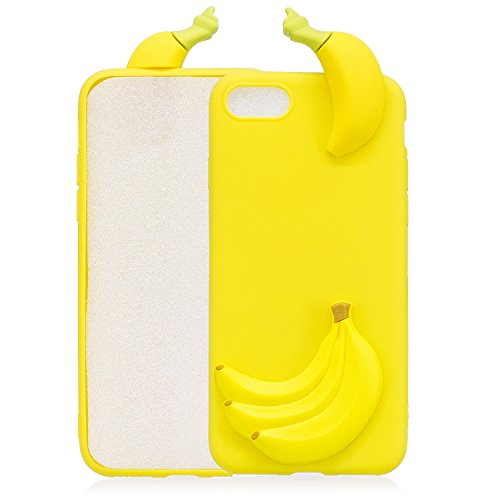 TPU Hülle für iPhone 7,Silikon Hülle für iPhone 8,Funyye Komisch 3D Erdbeere Entwurf Ultra Dünnen Scratch Resistant Bumper Soft Rückseite Abdeckung Cover Tasche für iPhone 7/iPhone 8 4.7 Zoll + 1 x Fr Muster #2