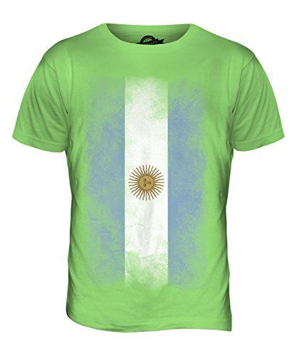 CandyMix Argentinien Verblichen Flagge Herren T Shirt Limettengrün
