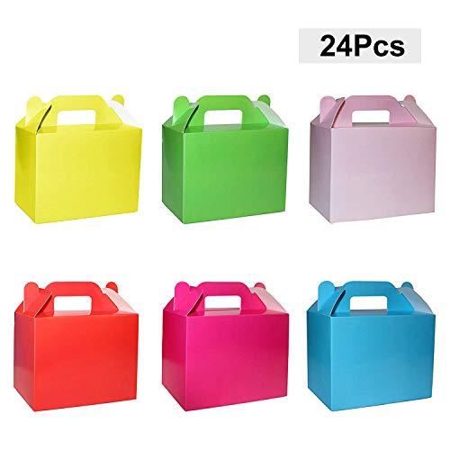 Pack 24 Cajas de Cartón para Dulces Colorido Arcoíris por Belle VousEmpiece la fiesta y cree cajas de dulces personalizadas para todos sus amigos, familiares e invitados. Son perfectas para todas las edades.Qué Incluye:- 24 x cajas de regalo / regalo...