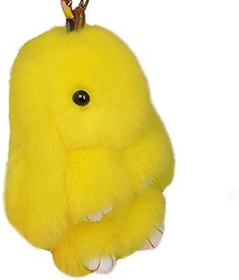 Yodensity llavero de conejo, llavero peludo de coche, colgante para bolso, talismán, para mujer, decoración