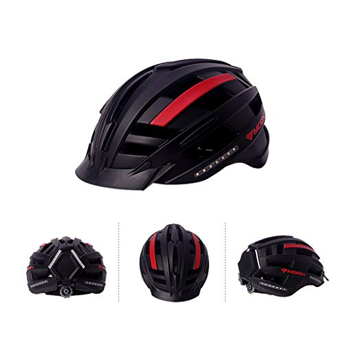 shuhong Casco De Ciclismo Casco De Montar para Hombres Y Mujeres Equipo De Bicicleta Inteligente Música para Adultos Bicicleta De Montaña Sombrero De Seguridad M, L
