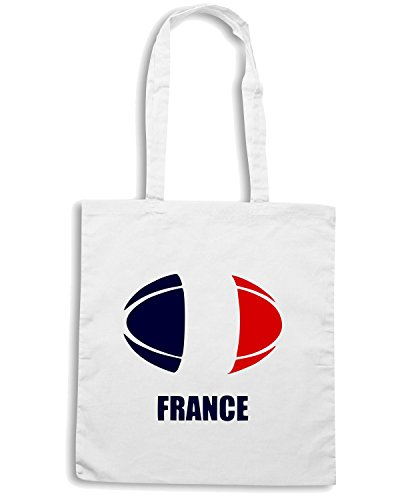 T-Shirtshock - Borsa Shopping TRUG0012 france rugby logo Bianco