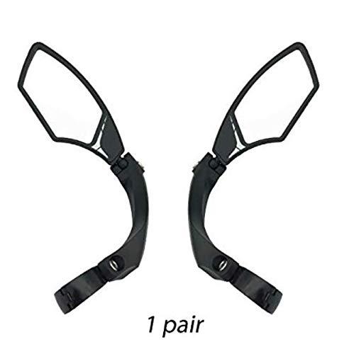 Hafny Lenker-Fahrradspiegel, HD, schlagfest, Glaslinse für Fahrzeugqualität (95 Silber (1 Paar))