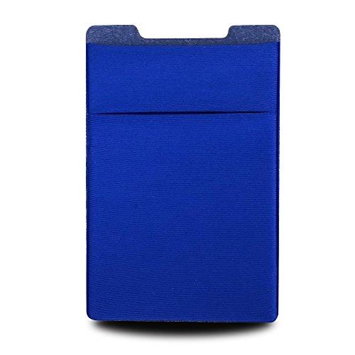 Pagger Flach Dual Layer Handy Halter Tasche Kreditkarte ID Card Stick an Brieftasche, Blau