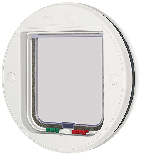 cat-mate-4-way-locking-glass-fitting-cat-flap-white