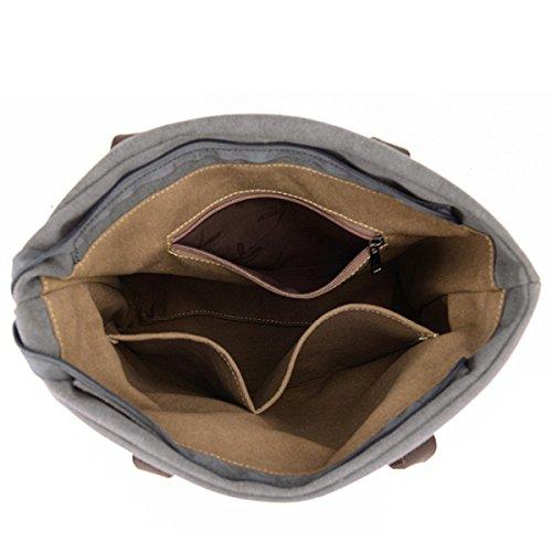 Leinwand Damen Wearable Atmungsaktiv Mit Großer Kapazität Freizeit Lässig Taschen Handtasche Black