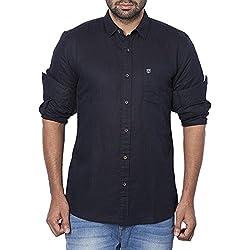 Wrangler Mens Casual Shirt (8907649199343_W2656310421R_XXL_Black)