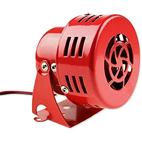 12V rojo de la motocicleta Aire Sirena del Cuerno alarma de motor de sonido fuerte contra incendios