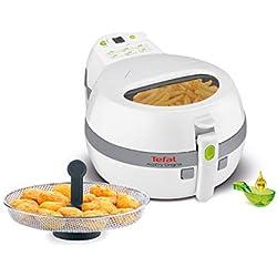 Tefal FZ7110 ActiFry Friteuse à air chaud avec accessoires snacking, 1 kg, 1400 W blanc/gris