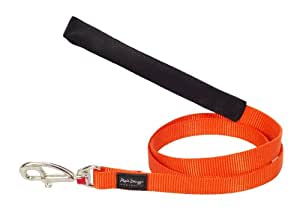 Red Dingo Plain Dog Lead, S, 12 mm x 1.2 m, Classic Orange