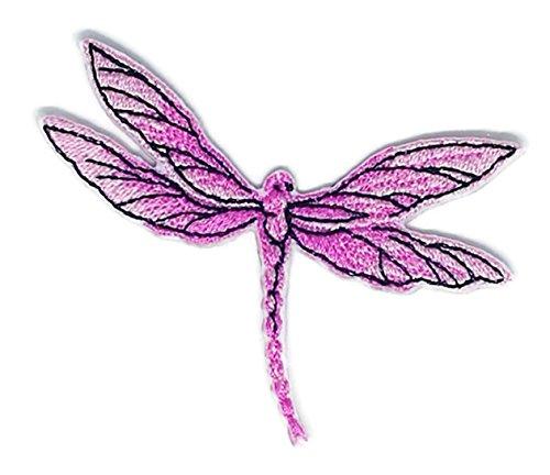 Pink Libelle Wild Life Cartoon Schild Hippie Retro Biker Jacke T-Shirt Weste Aufnäher Bügelbild -