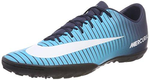 Nike Herren MercurialX Victory VI TF Fußballschuhe, Blau (Obsidian Blau/Weiß-Gamma Blau 404), 43 EU (Tf Fußball-schuh)