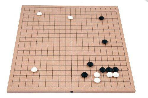 Go-Spiel: 19x19 Buchenfurnierbrett, Magnetscharnier