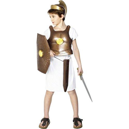 Kinder Römer Rüstung Ritterrüstung Bronze für Kinder ab 3 Jahre Mittelalter Krieger Ritter Kostüm Set Outfit (Griechischen Helm Krieger Kostüm)