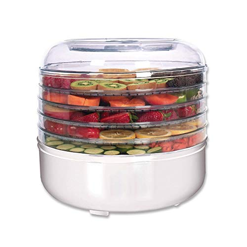 Abhsant Food Dehydrator -Stackable Trays, Adjustable Thermostat & Advanced Air Flow System -Great for Healthy Snacks, Fruit, Vegetables, Meat, Fish, Jerky Maker