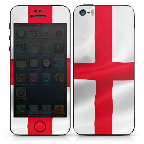 Apple iPhone 5s Case Skin Sticker aus Vinyl-Folie Aufkleber England Flagge Fahne DesignSkins® glänzend
