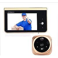 YAOHM Digital Puerta Visor Cámara Smart Puerta Ojo Video Registro Mirilla Espectadores IR Noche Visión Timbre