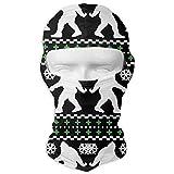 Vidmkeo Funny Bigfoot Ugly Christmas Holiday Sweater Balaclava Face Mask Hood for Neck Gaiter Headwear Helmet Liner