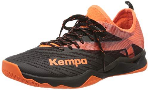 Kempa Herren Wing LITE 2.0 Handballschuhe, Mehrfarbig (Schwarz/Fluo Orange 02), 45 EU