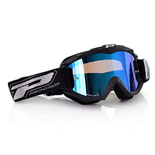 Progrip Motocross Brille 3204, Matt Schwarz, Einzig Größe