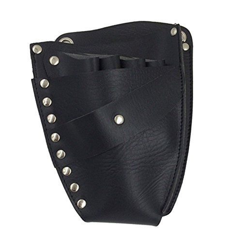 Vococal® PU-Leder Niet Friseur-Werkzeugtaschen Holster - Friseurtaschen mit Schulter Gürtel für Haareschneiden Schere Clips-Halter Styling-Kämme